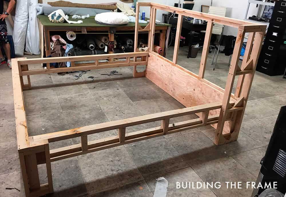 Breckenridge bedframe_building the frame_upholstery process_DIY