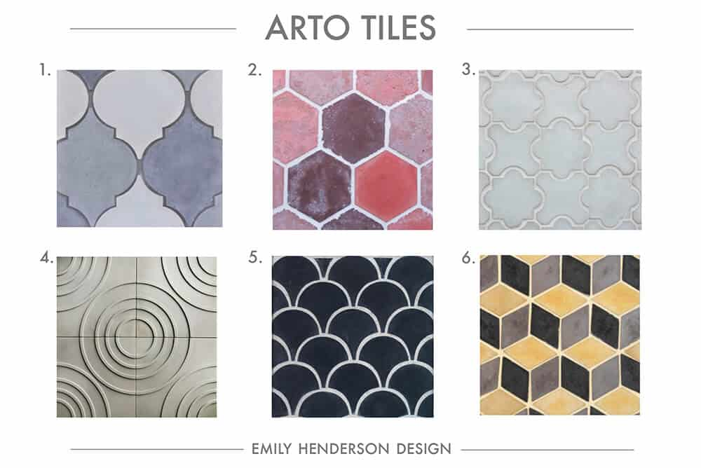 Cement Tile RoundUp Arto Tiles Patterned Tiles Emily Henderson