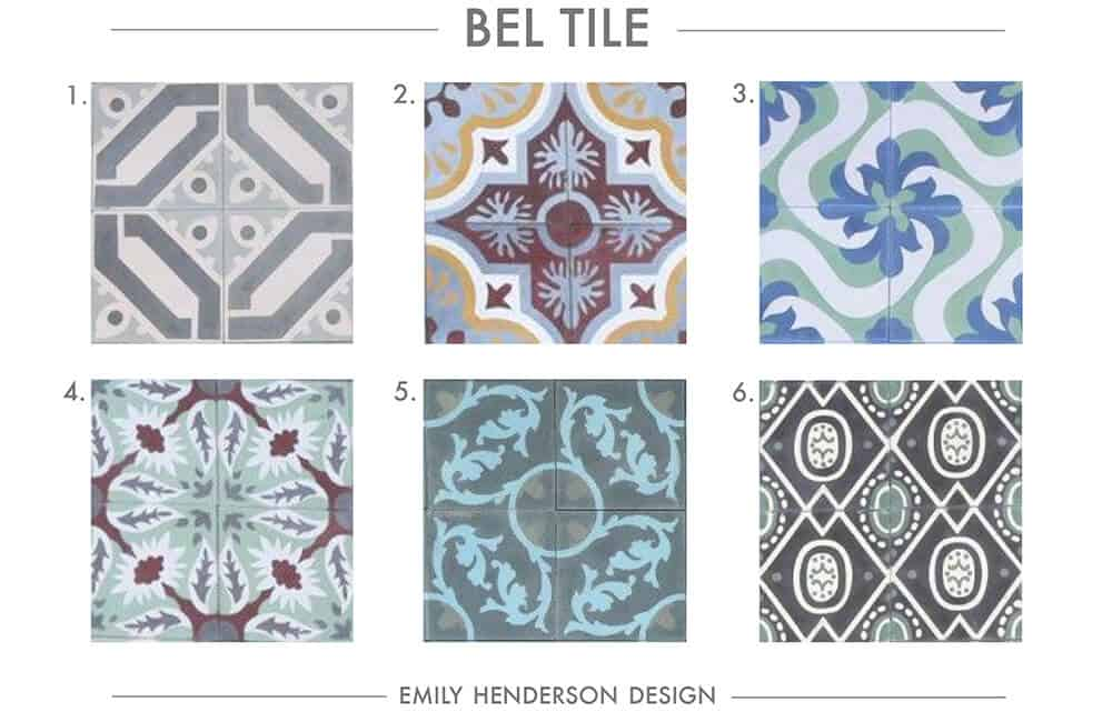 Cement Tile RoundUp Bel Tile Patterned Tiles Emily Henderson