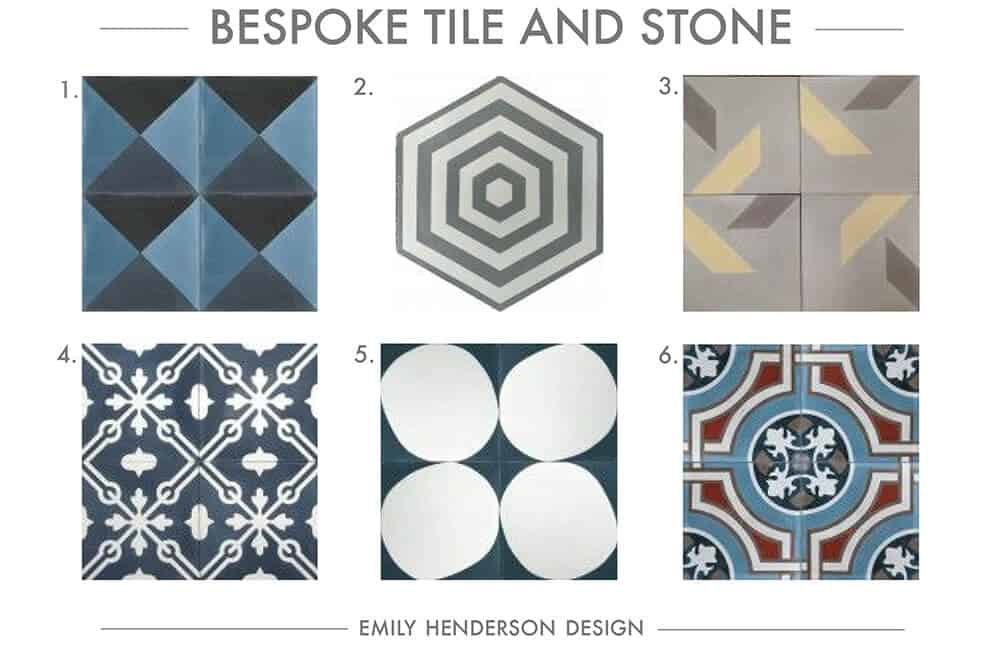 Cement Tile RoundUp Bespoke Tile and Stone Patterned Tiles Emily Henderson
