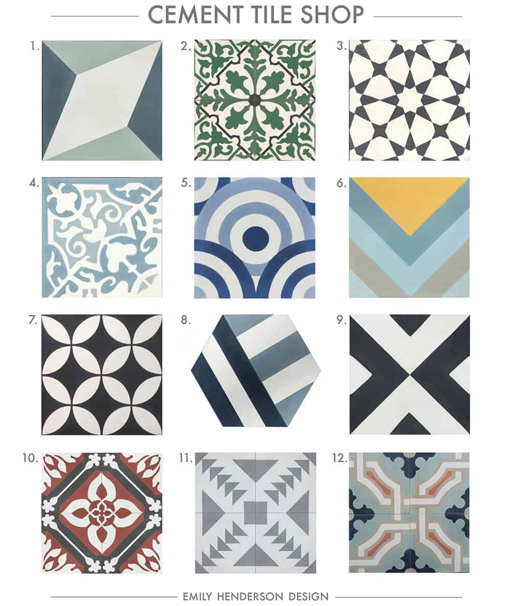 Cement Tile RoundUp Cement Tile Shop Patterned Tiles Emily Henderson