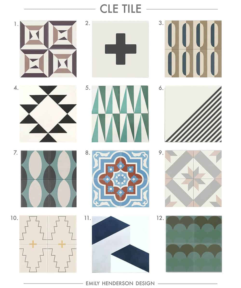 Cement Tile RoundUp Cle Tile Patterned Tiles Emily Henderson