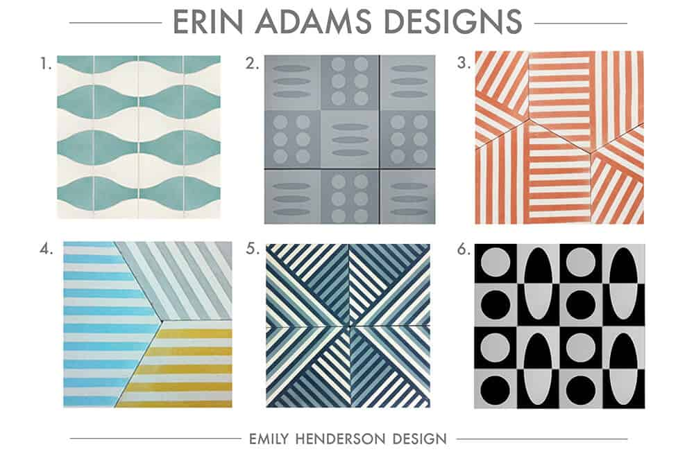 Cement Tile RoundUp Erin Adams Patterned Tiles Emily Henderson
