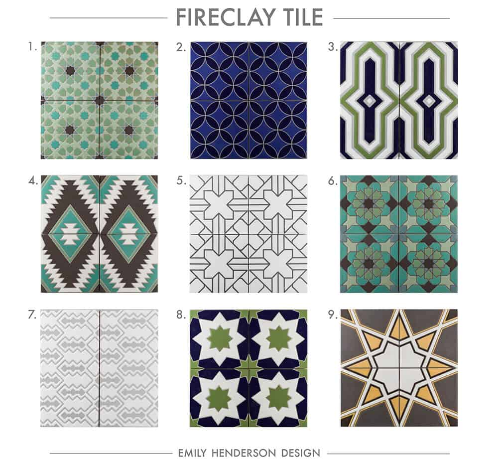 Cement Tile RoundUp Fireclay Tile Patterned Tiles Emily Henderson