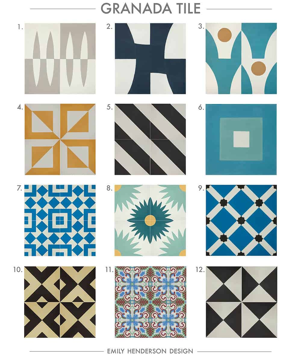 Cement Tile RoundUp Granada Tile Patterned Tiles Emily Henderson