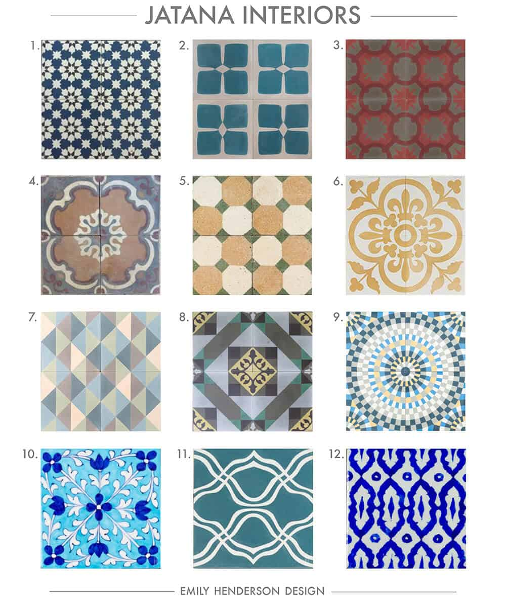 Cement Tile RoundUp Jatana Interiors Patterned Tiles Emily Henderson