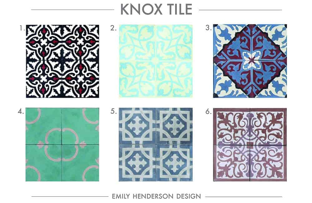 Cement Tile RoundUp Knox Tile Patterned Tiles Emily Henderson
