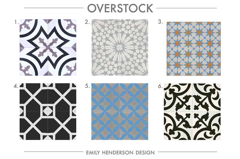 Cement Tile RoundUp Overstock Patterned Tiles Emily Henderson