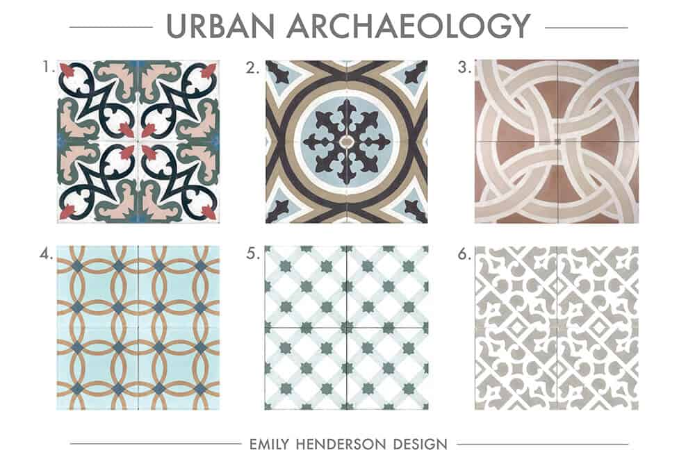 Cement Tile RoundUp Urban Archaeology Patterned Tiles Emily Henderson