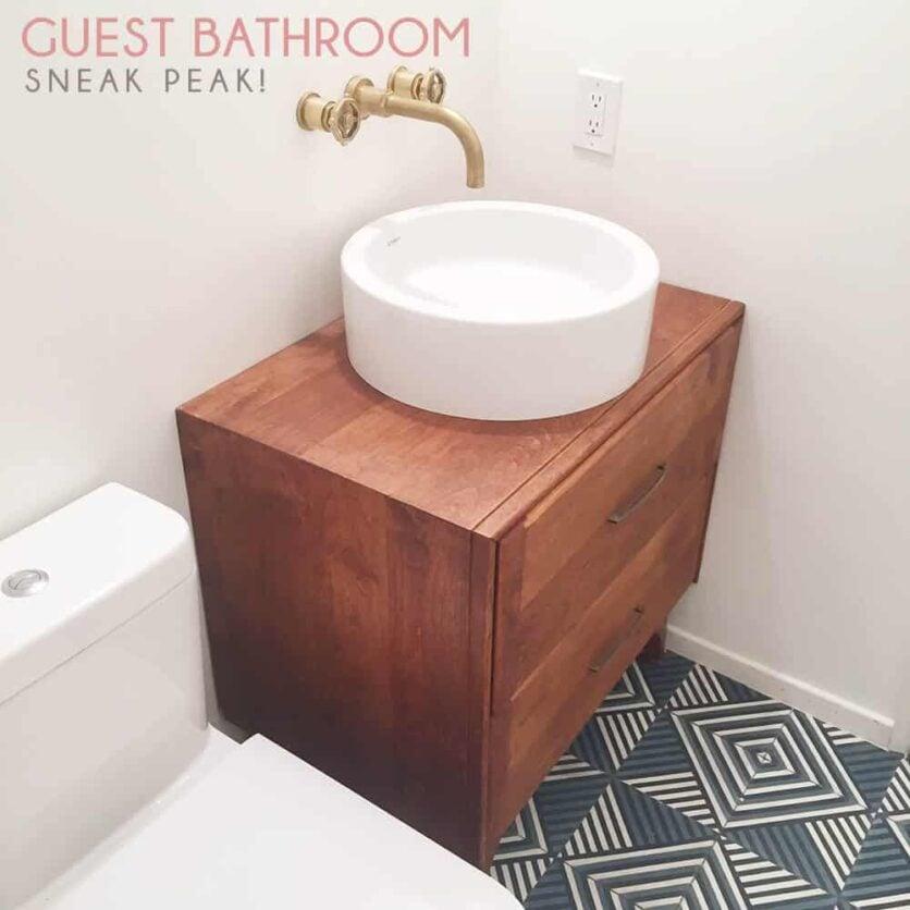 Emily Henderson Guest Bathroom Remodel Sneak Peak