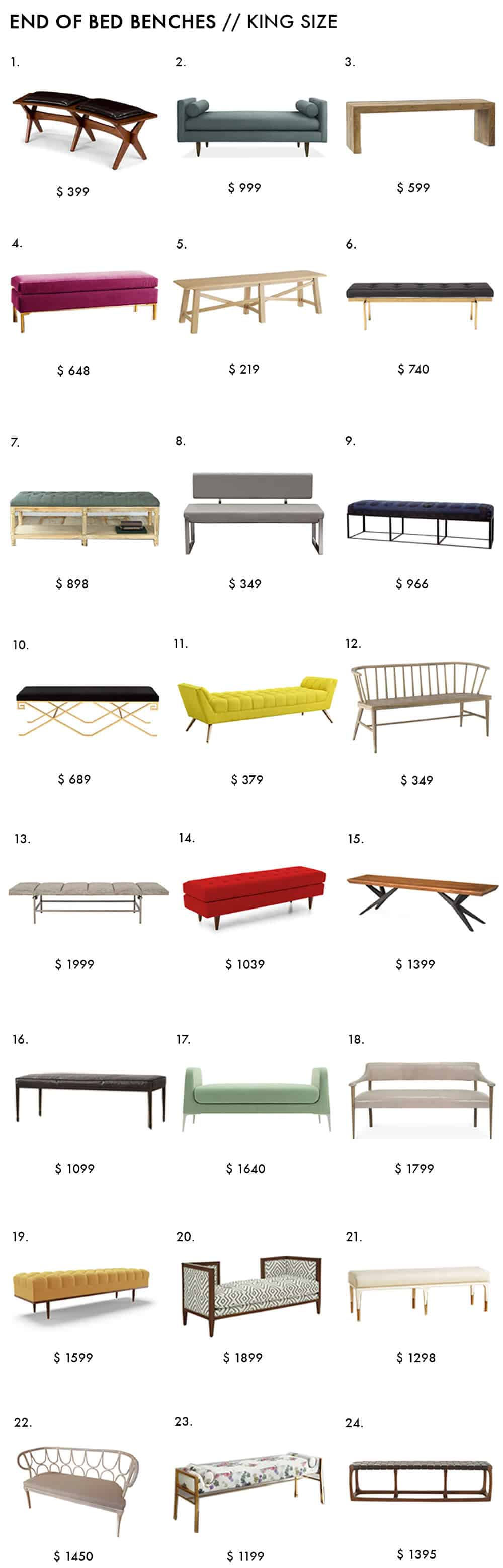 End of Bed Bench Roundup Emily Henderson Bedroom Design King Size