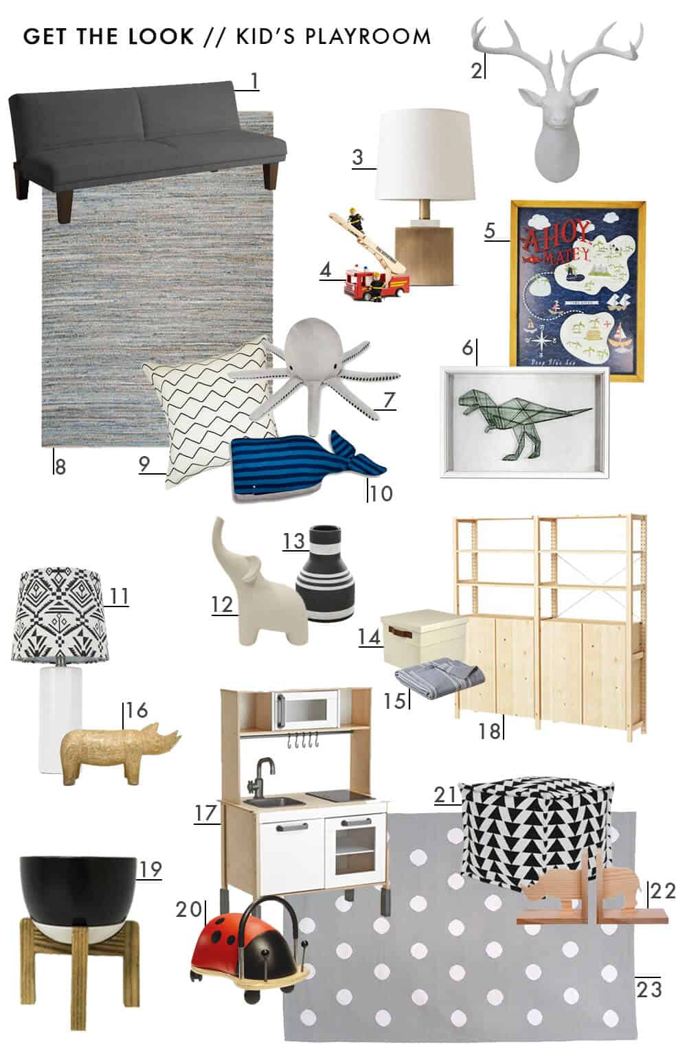 Get The Look Kids Neutral Playroom