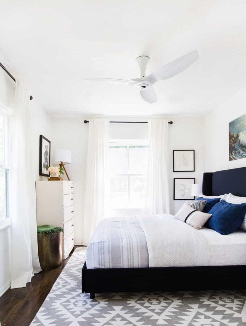 Haiku Fan Guest Bedroom Interior Makeover-1