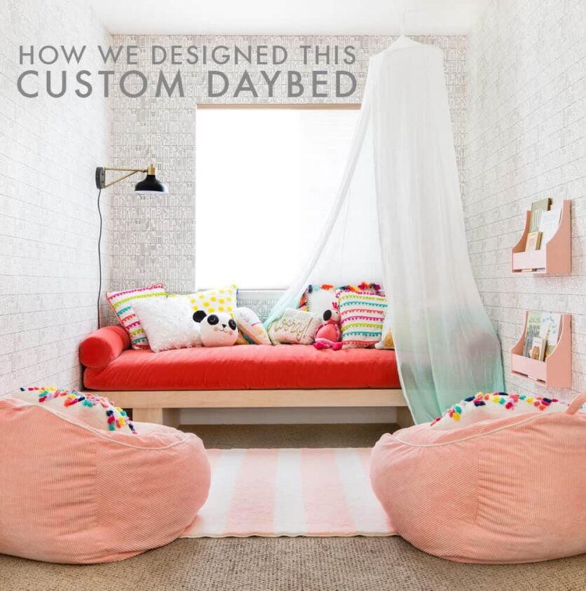 How We Designed This Custom Daybed Emily Henderson Kids Playroom Construction Makeover