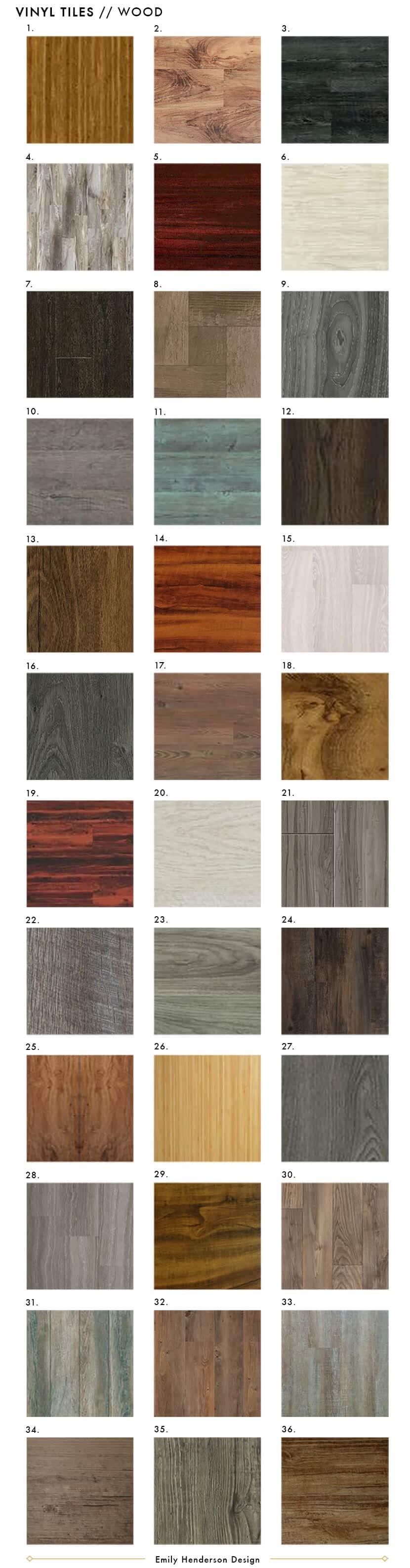 NEW Vinyl Tile Wood