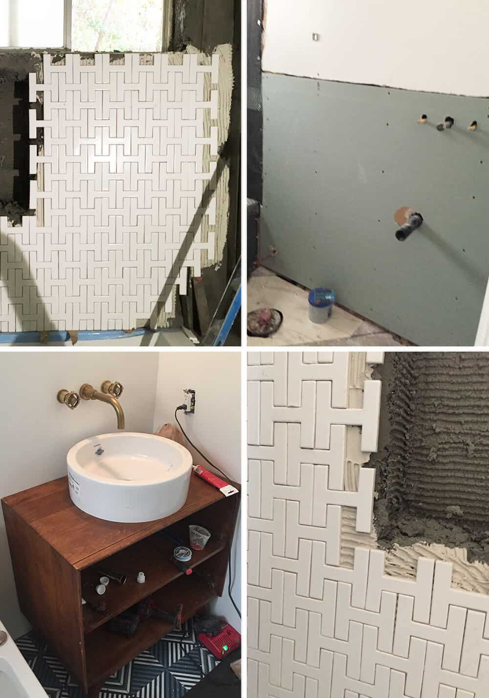 Process Grid Guest Bathroom Remodel Emily Henderson Design