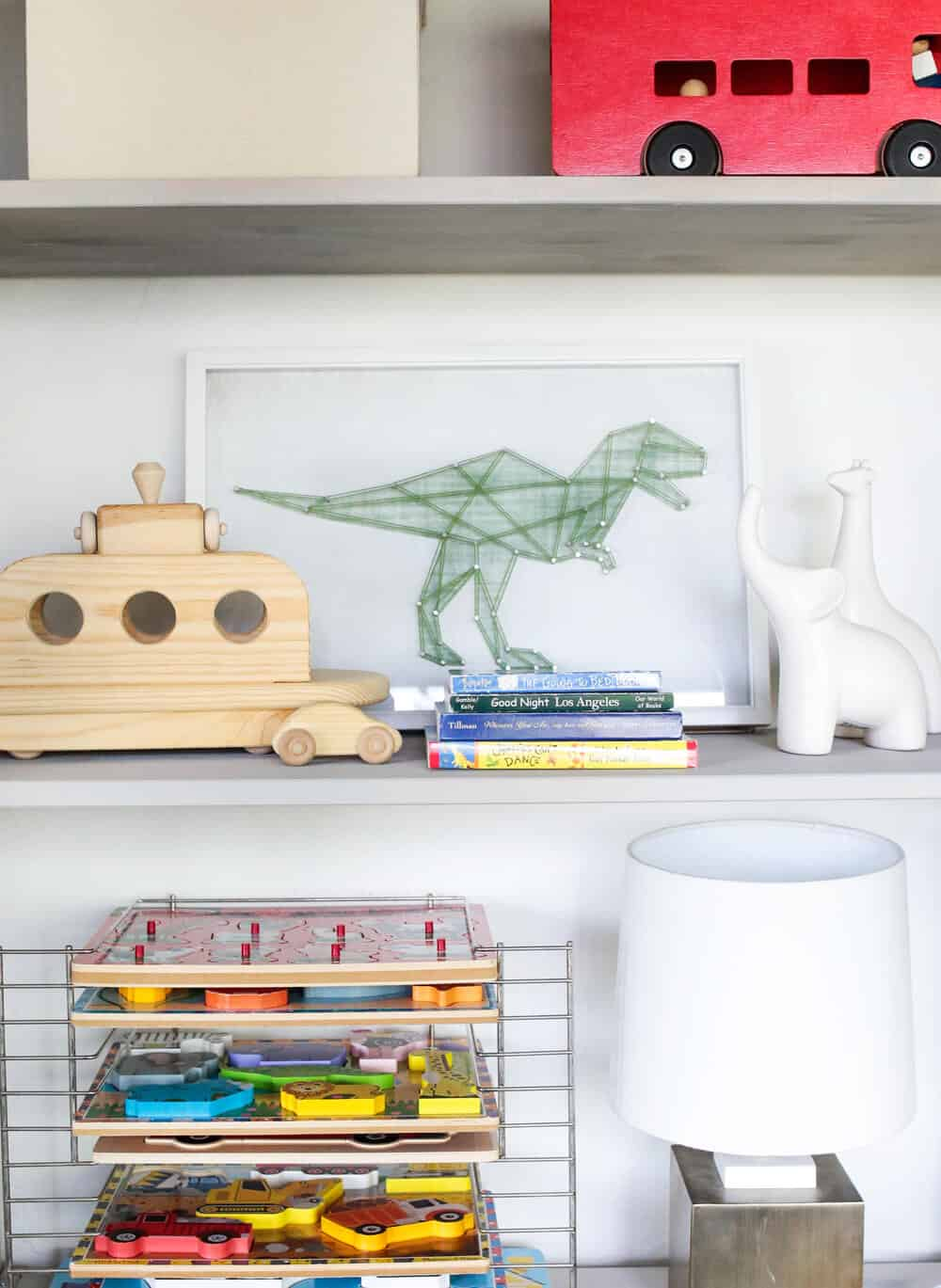 Suzanne's Sophisticated Childrens Playroom Makeover Neutral Kids Blue Grey Emily Henderson-120
