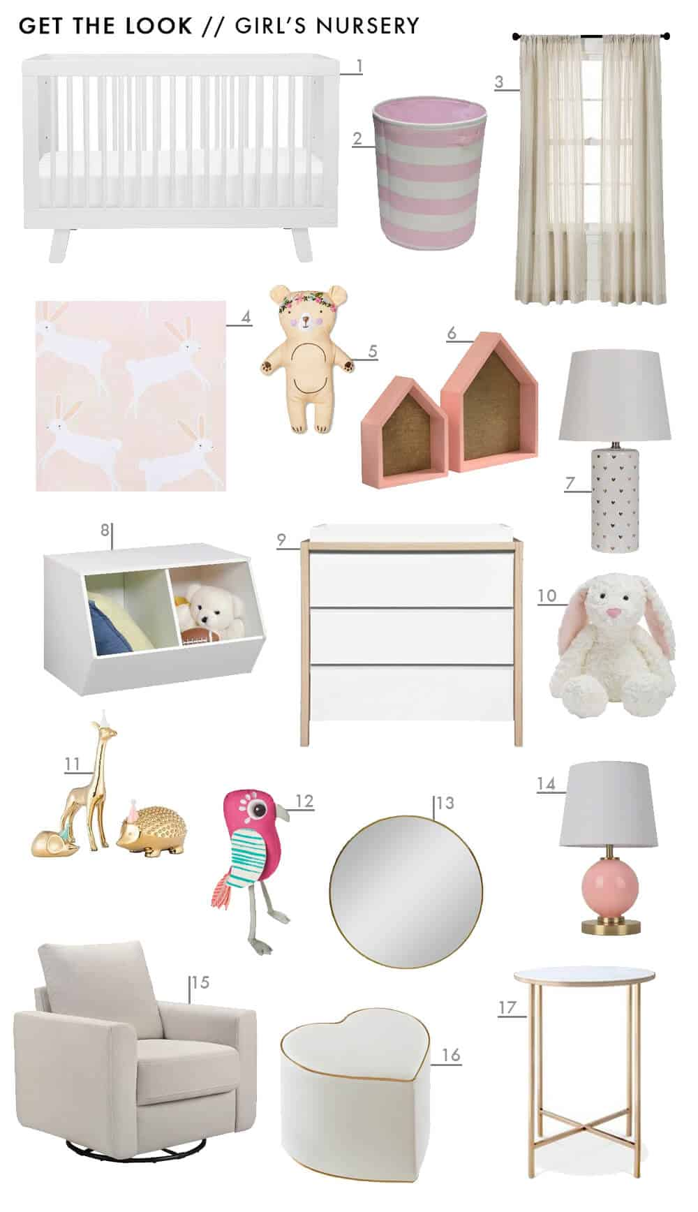 Target Pillowfort Get The Look Baby Girls Pink Nursery Emily Henderson