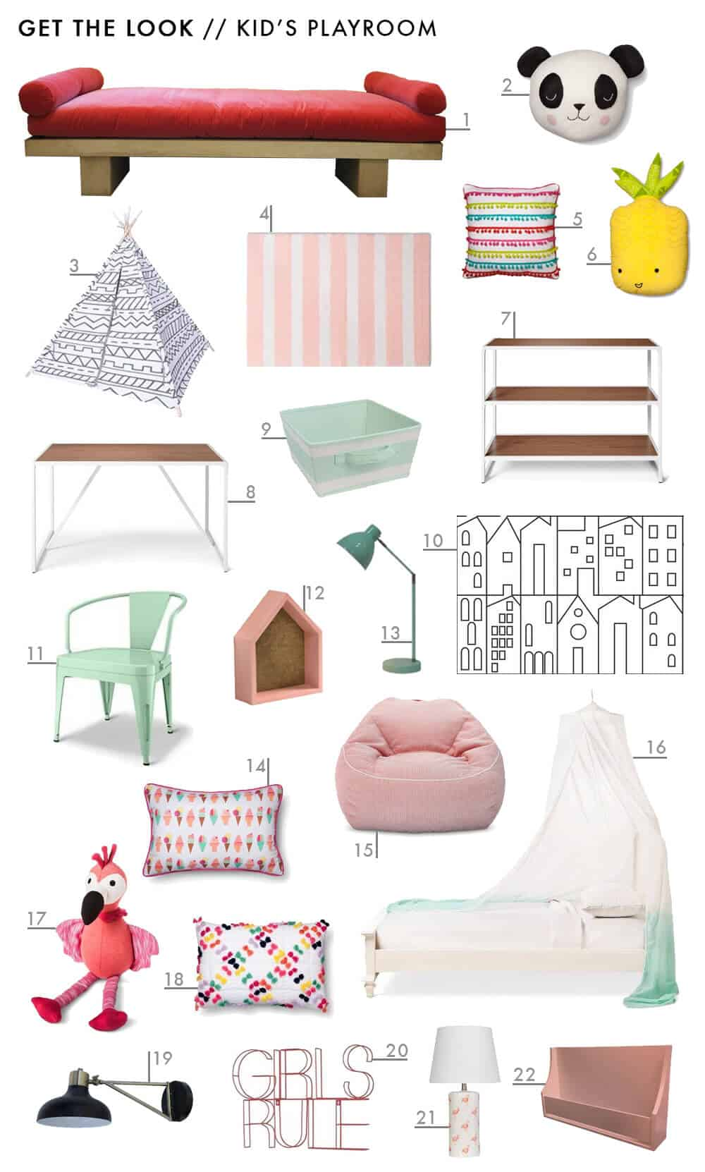 Target Pillowfort Get The Look Kid Childs Playroom Colorful Pink Emily Henderson