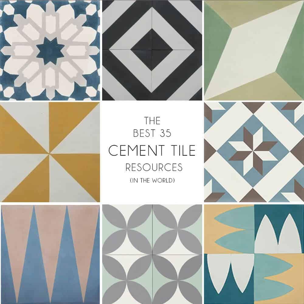 Where To Buy Cement Tiles - Emily Henderson