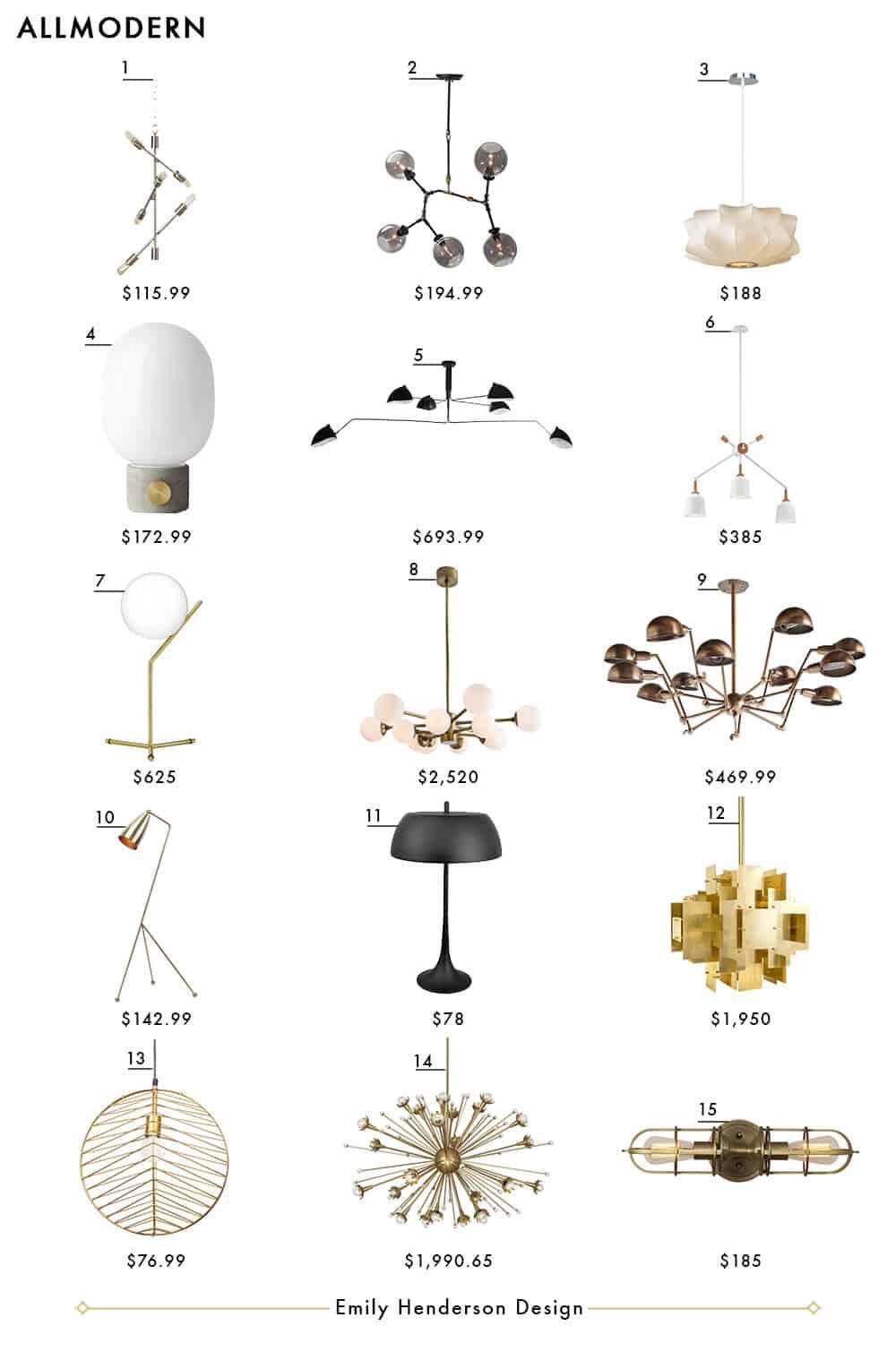 All Modern Emily Henderson Design Lighting Roundup copy