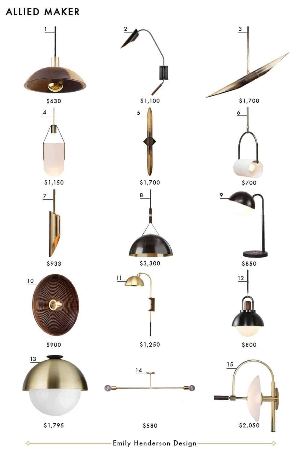Allied Maker Emily Henderson Design Lighting Roundup
