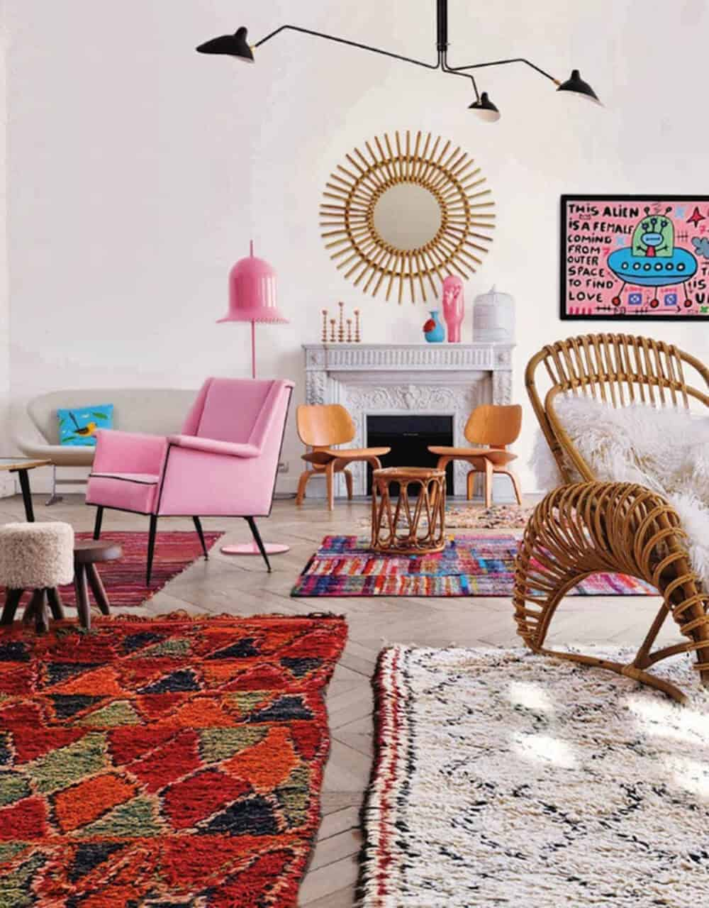 Bubblegum pink room Emily Henderson Design Color Trends 1