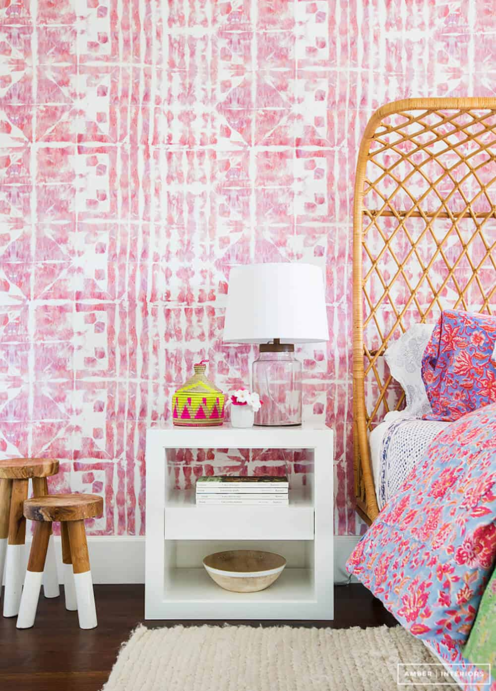 Bubblegum pink room Emily Henderson Design Color Trends 3