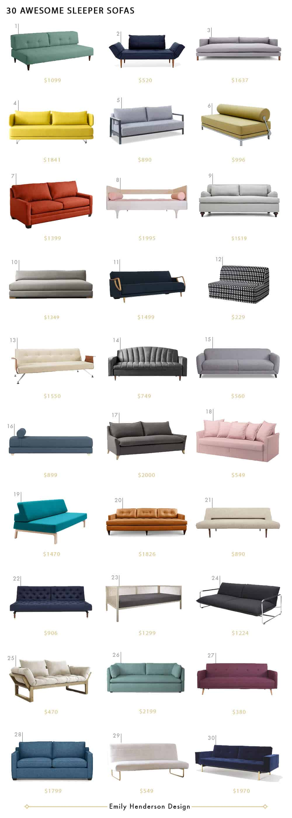 30 Sleeper Sofas We Love Emily Henderson