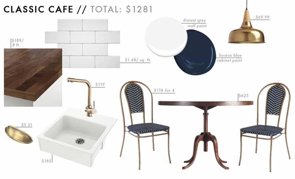 Classic Cafe Moodboard Affordable Kitchen Roundup French Bistro Budget Friendly Emily Henderson Design