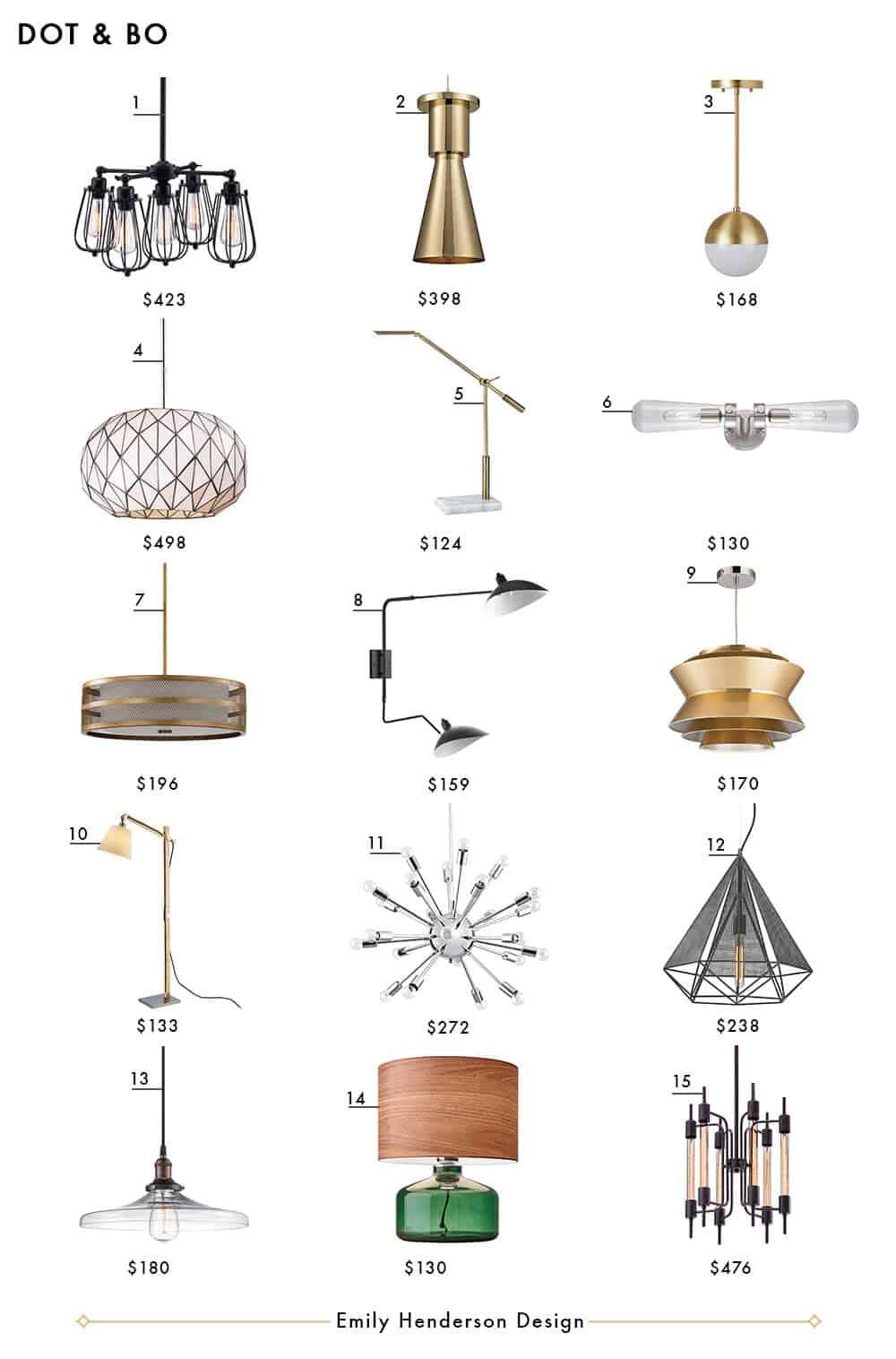 Dot and Bo Emily Henderson Design Lighting Roundup