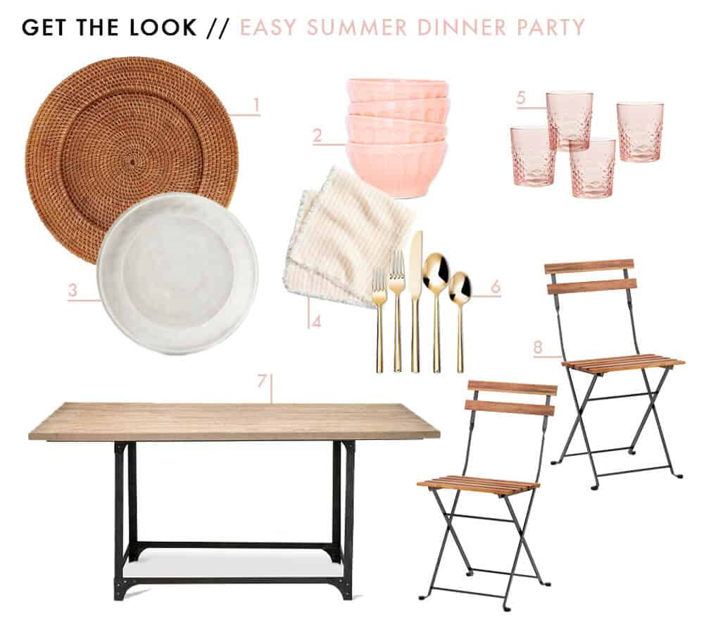 Easy Summer Dinner Party Lazy Girl Host Advice from a 20 Something Emily Henderson Mood Board Anthropologie