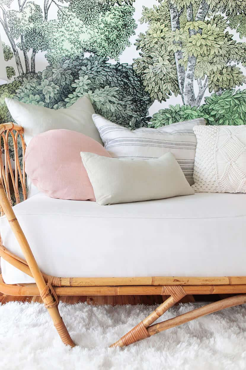 How To Style A Twin Bed Like A Sofa Or Daybed Shop The Look Emily Henderson