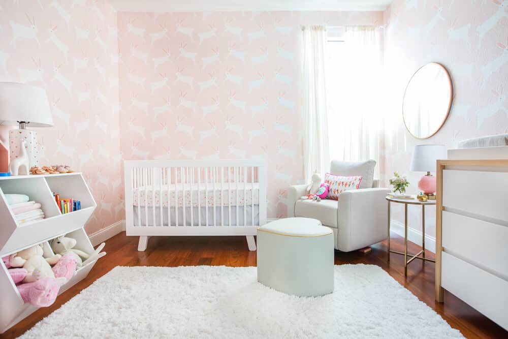 Emily Henderson Pillowfort Target Nursery Makeover Baby Girl Pink-300_A