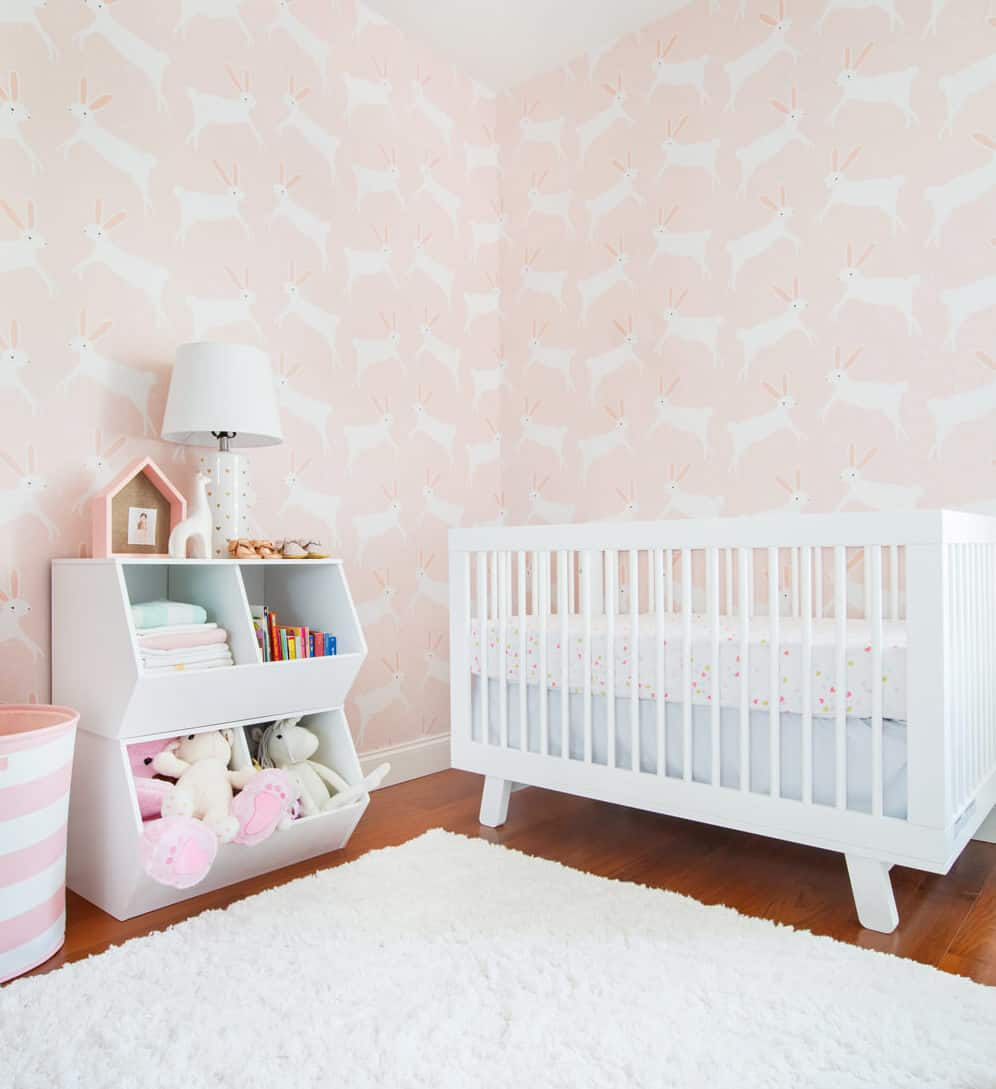 Emily Henderson Pillowfort Target Nursery Makeover Baby Girl Pink-35_A