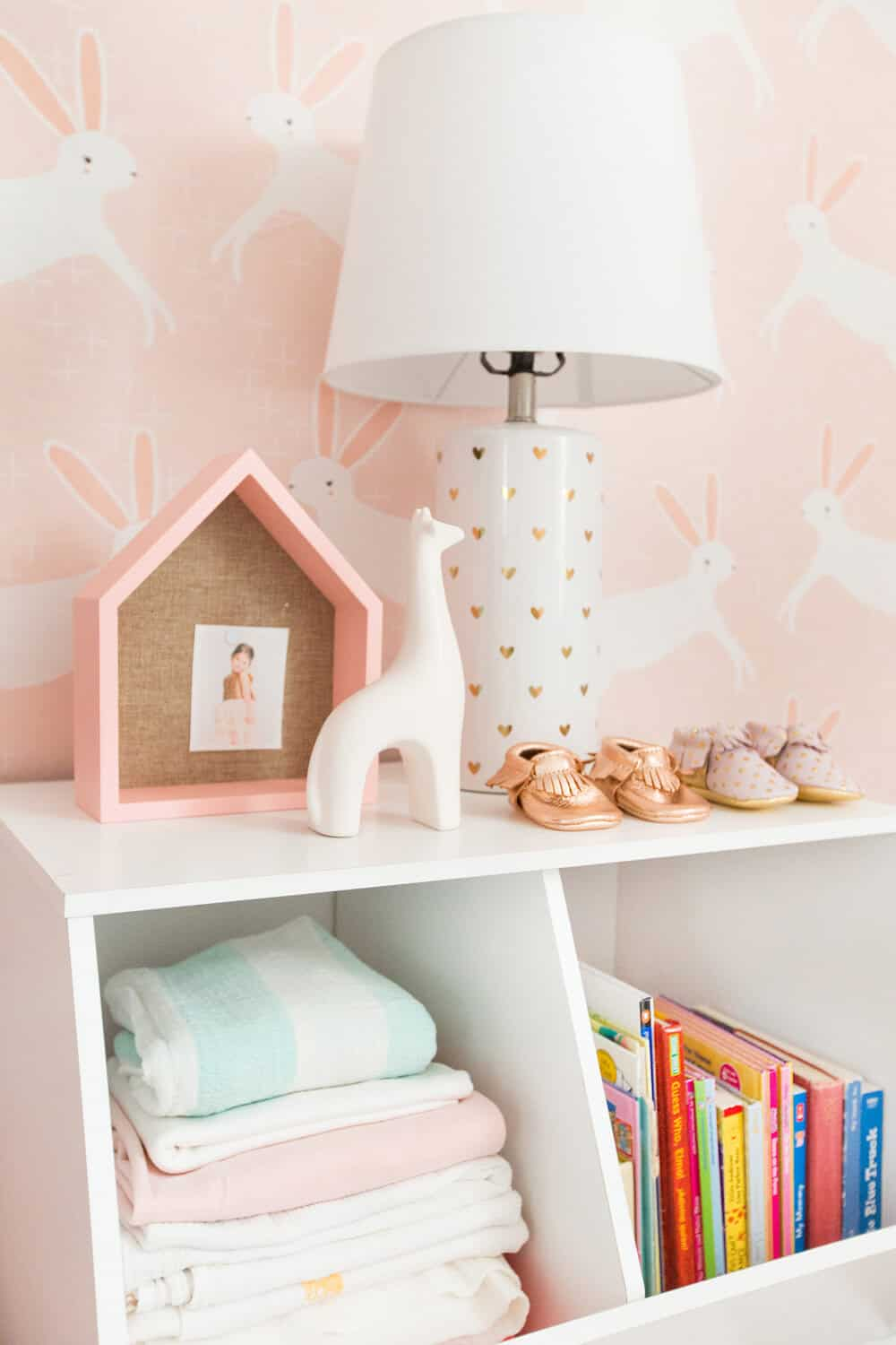 Emily Henderson Pillowfort Target Nursery Makeover Baby Girl Pink-44