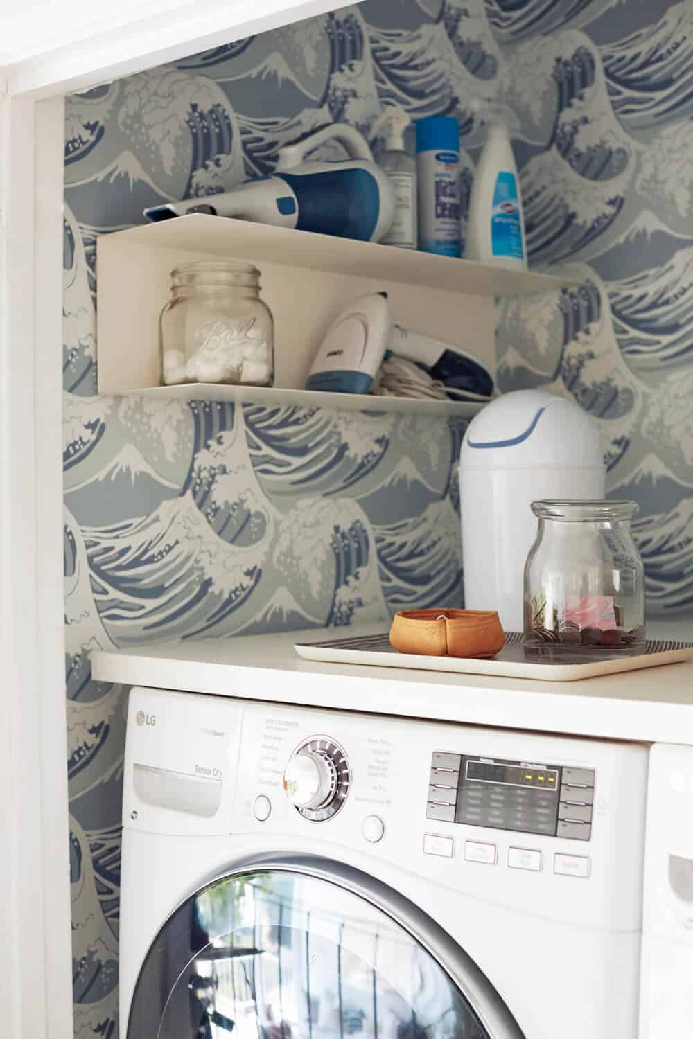 Laundry Room_Emily Henderson_Big Wave Wallpaper_Blue_LG_Detail_3