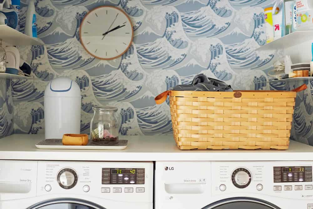 Laundry Room_Emily Henderson_Big Wave Wallpaper_Blue_LG_Detail_4