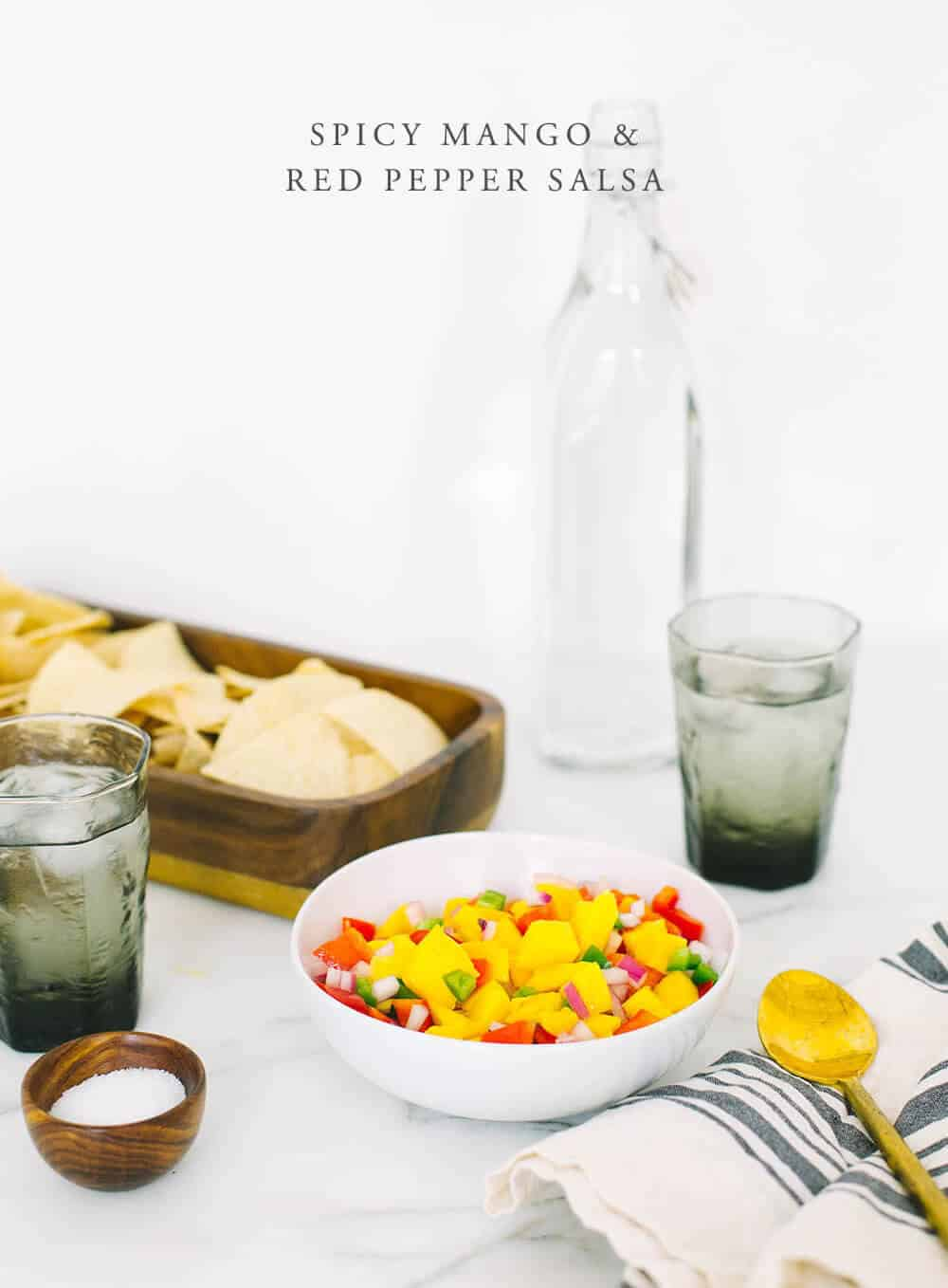 Lazy Girl Appetizers Emily Henderson Design Mango red pepper salsa
