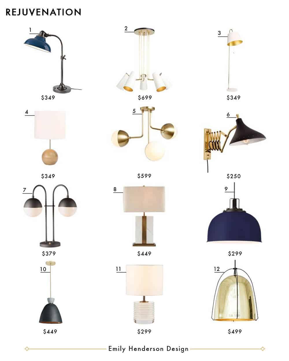 Rejuvenation Emily Henderson Design Lighting Roundup