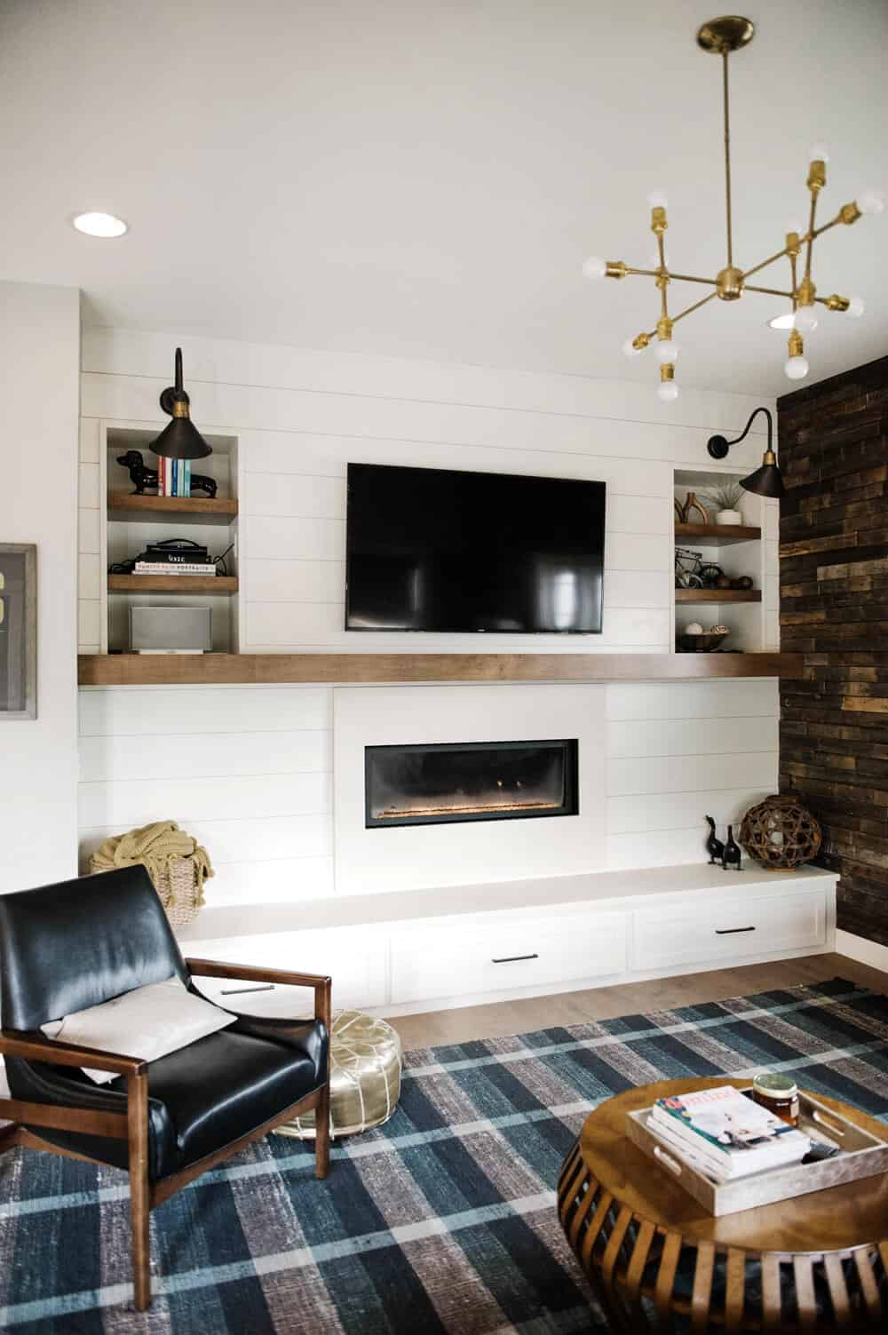 Suburban Bitches Emily Henderson Design Agony Fireplace White Redesign Makeover Brick_74