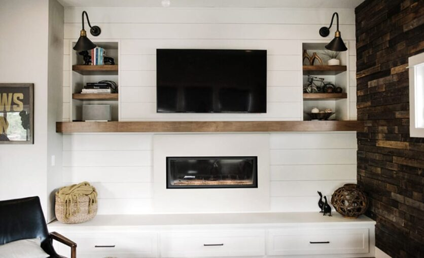 Suburban Bitches Emily Henderson Design Agony Fireplace White Redesign Makeover Brick_77 edited
