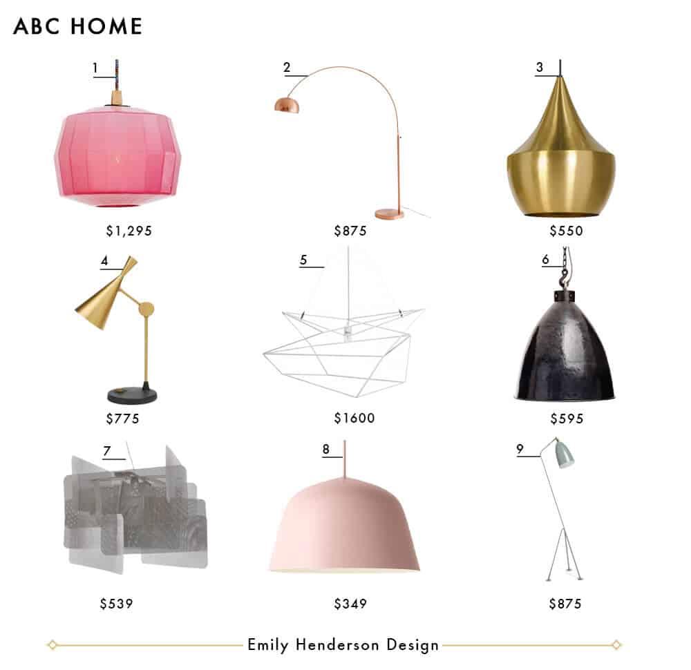 ABC Home Emily Henderson Design Lighting Roundup copy