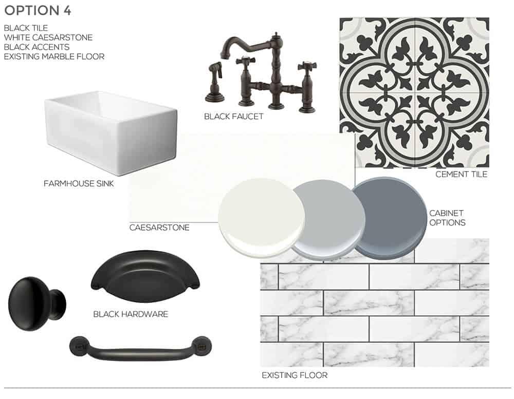 Black Inspiration Sarah Stabuel Kitchen Concept Plan Emily Henderson Design
