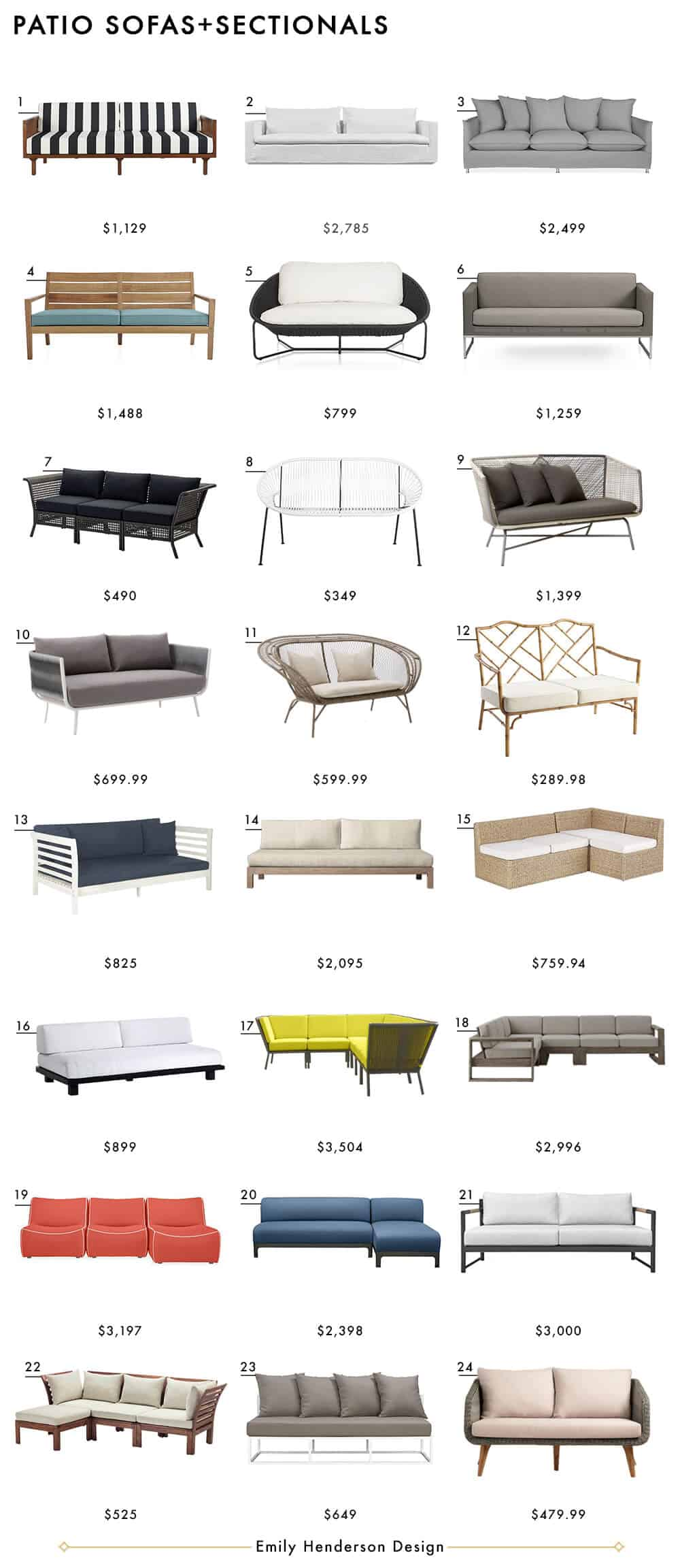 Couches and Sectionals Emily Henderson Design Patio Furniture Roundup