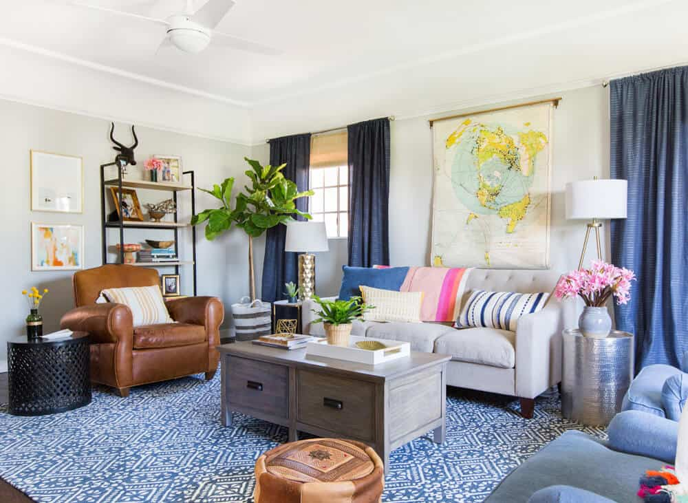 Emily Henderson_Target_Makeover_Nanny Suprise_Happy_Modern_Traditional_Eclectic_Makeover_Blue_Pink_Living Room_28