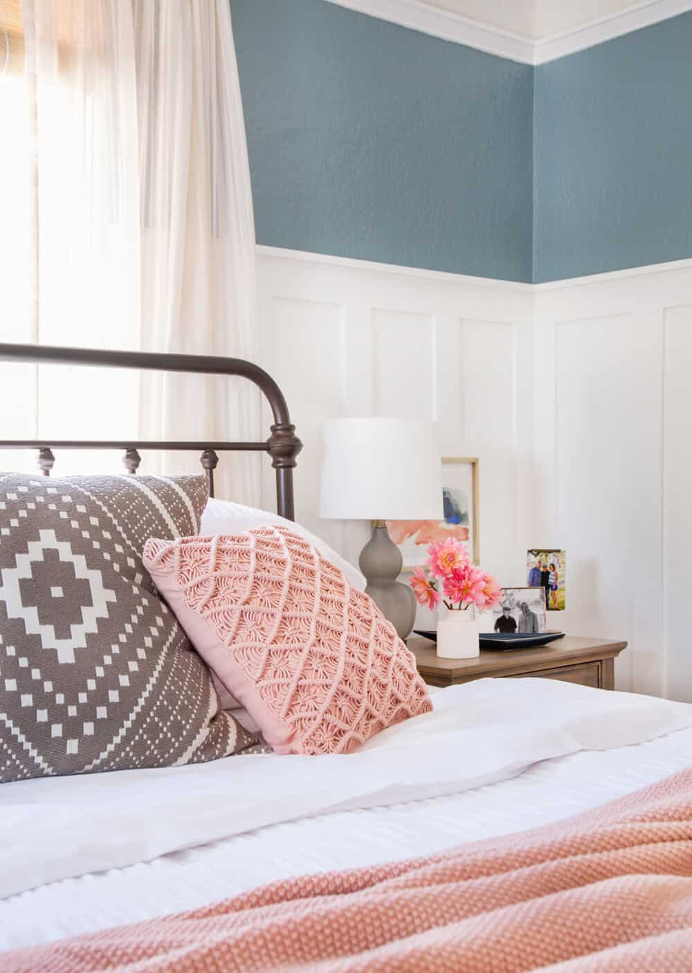 Emily Henderson_Target_Makeover_Nanny Suprise_Happy_Modern_Traditional_Eclectic_Makeover_Blue_Pink_Master Bedroom_4
