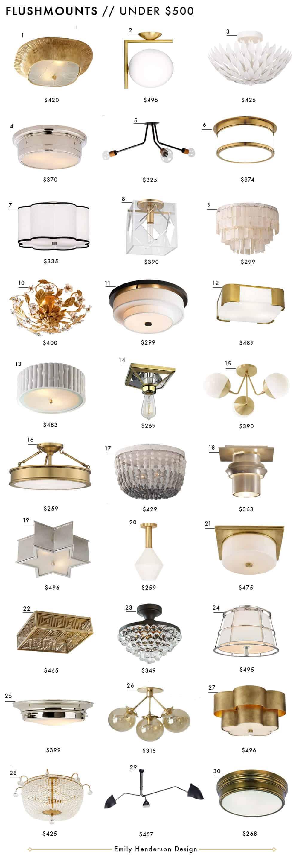 Flushmounts Under $500 Roundup Emily Henderson Design