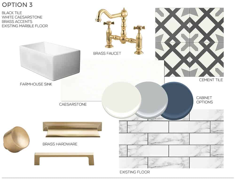 Gold and Black Inspiration Sarah Stabuel Kitchen Concept Plan Emily Henderson Design