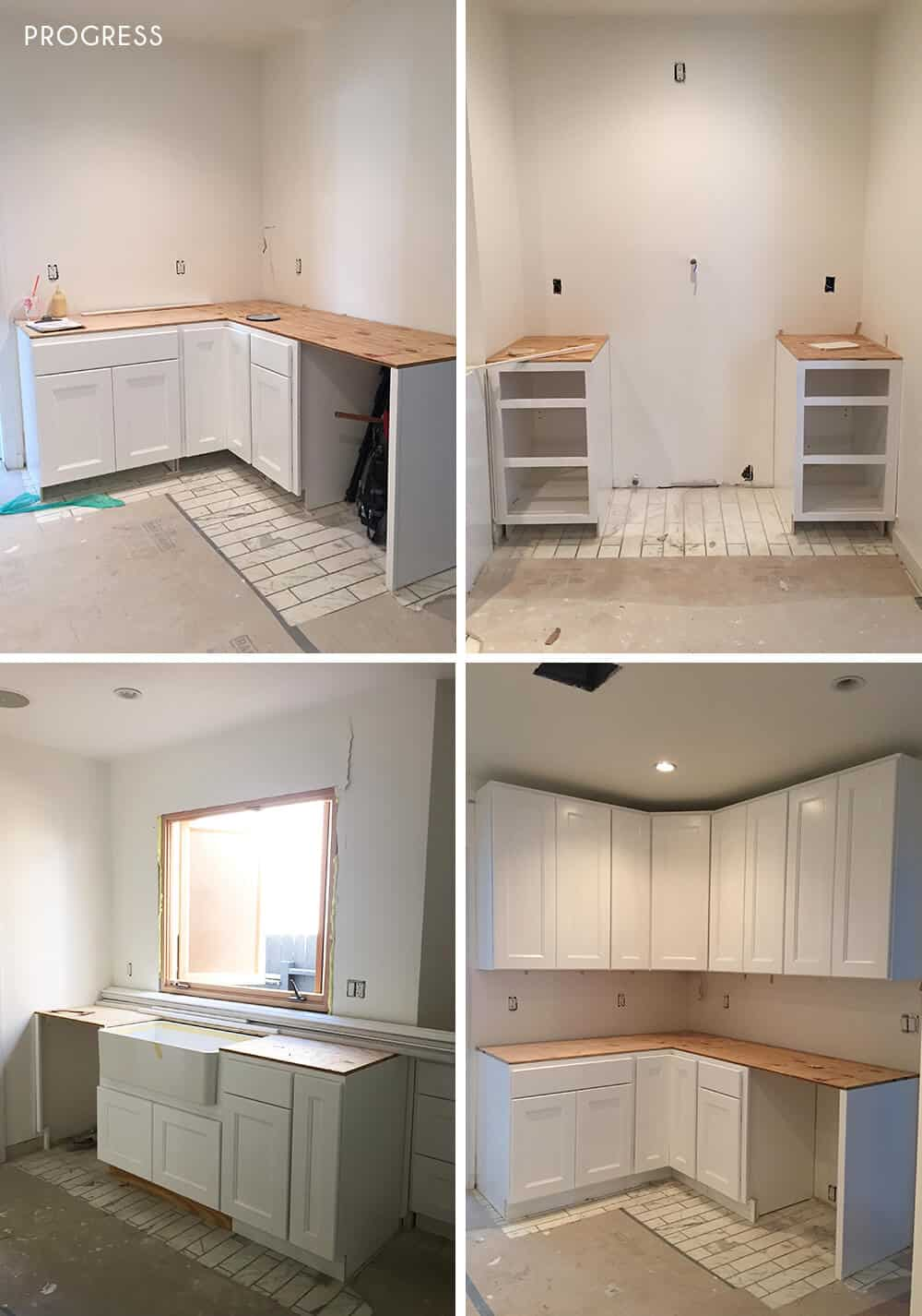 Sarah Stabuel Kitchen Progress photos Emily Henderson Design
